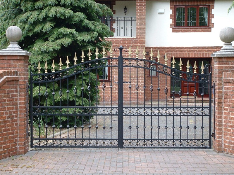 automation wrought iron gate
